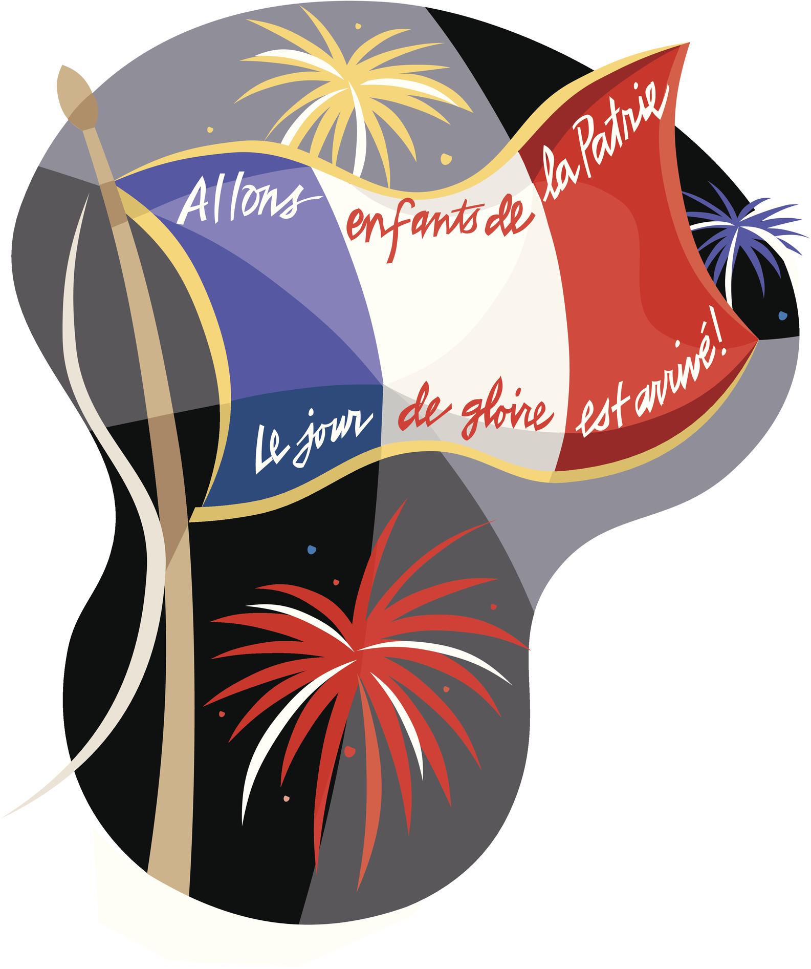French flag, Allons enfants de la Patrie Le jour de gloire est arrive,, Color