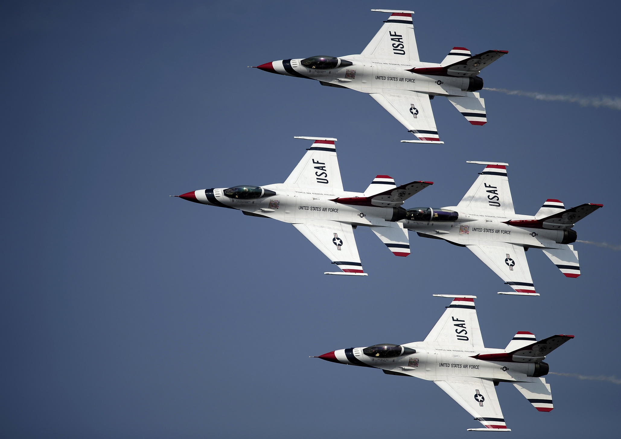 April 9, 2011 - The U.S. Air Force Thunderbird demonstration team performs in their F-16 C/D Fighting Falcons at the Charleston Air Expo, Joint Base Charleston South Carolina. The Thunderbirds closed the 2011 Charleston Air Expo in dramatic fashion as they dazzled an expected crowd of 100,000 people.